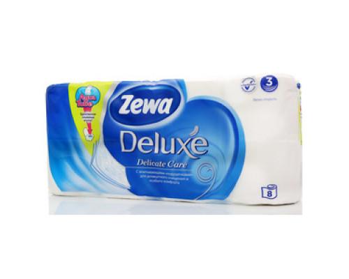 Туалетная бумага трёхслойная ТМ Zewa (Зева), 8 рулонов