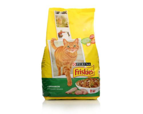 Корм сухой для взрослых кошек с Кроликом, курицей и овощами ТМ Friskies (Фрискис)
