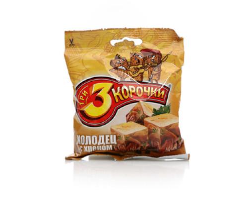 Сухарики ржаные со вкусом холодца с хреном ТМ 3 Корочки