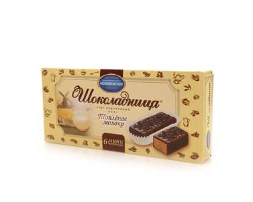 Торт порционный Шоколадница со вкусом топленого молока ТМ Коломенское