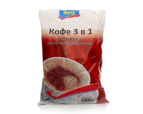 Напиток кофейный растворимый 3 в 1 Strong 50 пак. ТМ Aro (Аро)