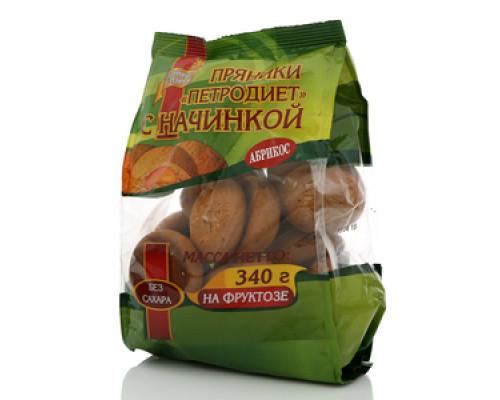 Пряники с абрикосовой начинкой на фруктозе ТМ Петродиет