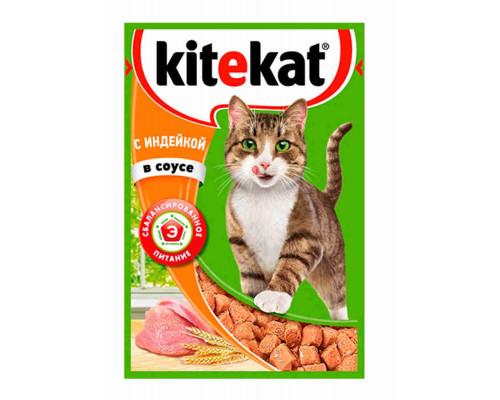Корм Kitekat д/кошек индейка в соусе 85г пауч
