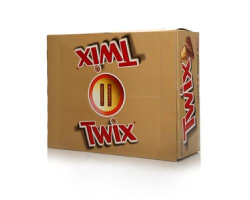 Печенье песочное в молочном шоколаде 40 шт ТМ Twix (Твикс)