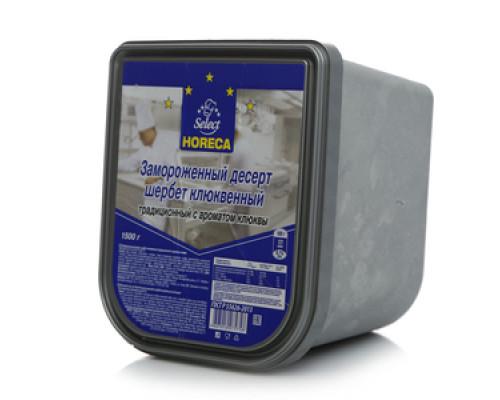 Мороженое Щербет клюквенный 1% TM Horeca Select (Хорека Селект)