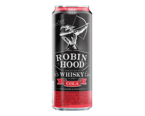 Напиток ТМ Robin Hood (Робин Гуд) коктейль с виски и колой, 7,2%, 0,5 л
