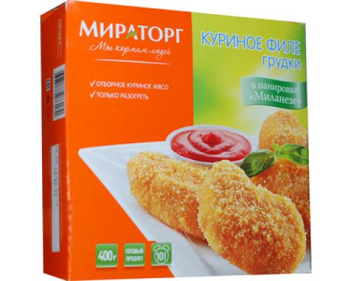 Куриное филе грудки в панировке Миланезе ТМ Мираторг