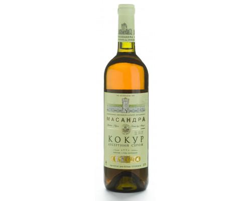 Вино Кокур Сурож ТМ Масандра, белое, сладкое, 0,75 л