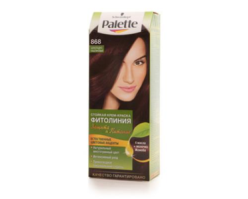 Стойкая крем-краска для волос 'Фитолиния' 868 шоколадно-каштановый ТМ Palette (Палет)