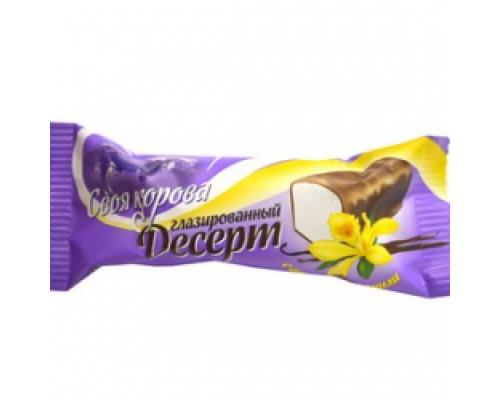 Десерт ТМ Своя Корова, глазированный, ваниль, 23%, 40 г