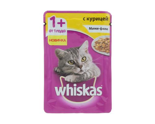 Консервы для кошек ТМ Whiskas (Вискас), мини-филе, желе с курицей, 85 г