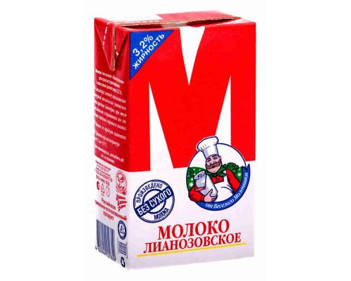 Молоко ТМ Лианозово М, ультрапастеризованное , 3,2%, 950 г
