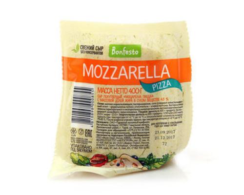 Сыр Моцарелла Пицца ТМ Bonfesto (Бонфесто), полутвердый, 45%, 400 г