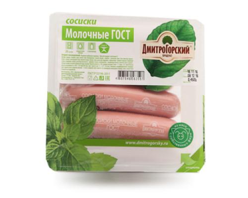 Сосиски Молочне ГОСТ ТМ ДмитроГорский