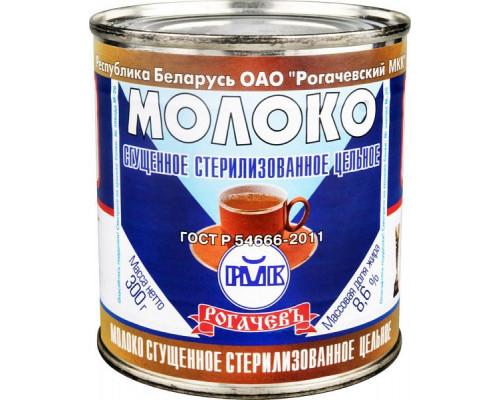 Молоко сгущенное ТМ Рогачевъ, стерилизованное, цельное, 8,6%, 300 г