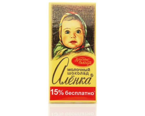 Шоколад ТМ Красный октябрь, молочный Аленка 200 г
