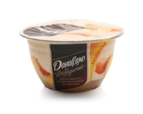 Йогуртный мусс со вкусом карамели и с персиком 5,4% ТМ Даниссимо