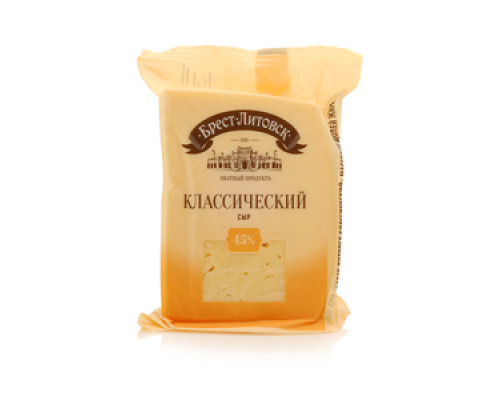 Сыр Брест-Литовск, классический, 45% 210 г