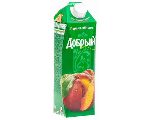 Нектар Добрый персик/яблоко 1л т/п