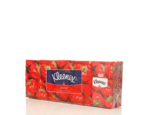 Носовые платочки (клубника) ТМ Kleenex (клинекс), 10*10шт