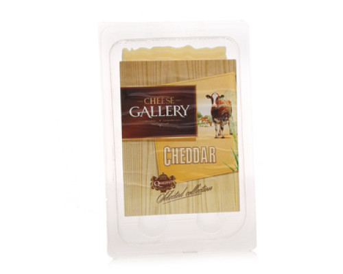 Сыр Чеддар 45% в нарезке ТМ Cheese Gallery (Чиз Гэллари)