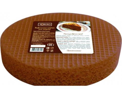 Вафельные коржи для торта ТМ Тореро, темные, 120 г