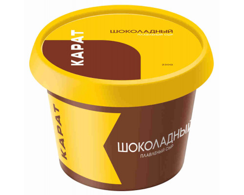 Сыр плавленый Карат шоколадный 30% 230г пл/ст