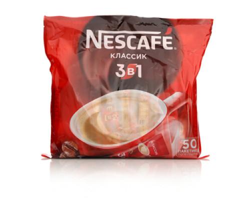 Напиток кофейный растворимый 3 в 1 классический 50 пак. ТМ Nescafe (Нескафе)