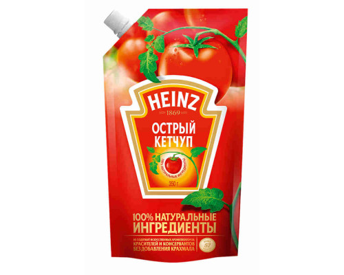 Кетчуп Heinz острый 350г д/п