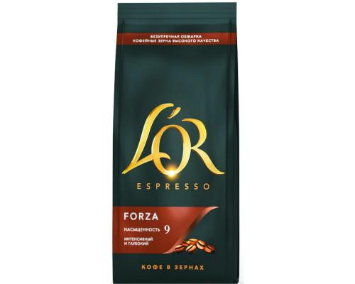 Кофе ТМ L'OR (Л`Op) Espresso Forza натуральный, жареный, в зернах, 230 г