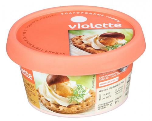 Сыр творожный ТМ Violette (Виолетте) благородные грибы, 70%, 140 г