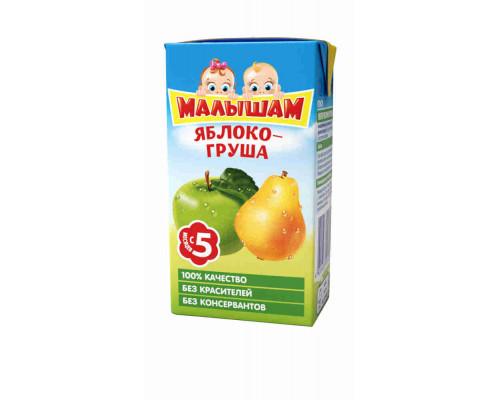 Нектар Фрутоняня Малышам яблочно-грушевый неосветленный д/питания детей раннего возраста 0,125л