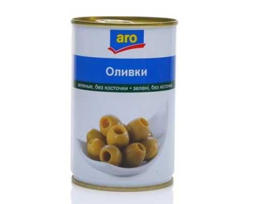 Оливки зеленые без косточки ТМ Aro (Аро)