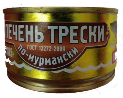 печень трески ТМ По-мурмански, 185 г