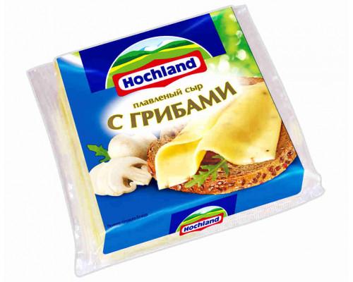 Сыр плавленый Hochland грибы ломтик 150г