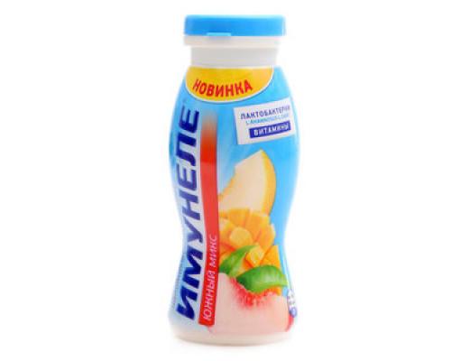 Напиток кисломолочный ТМ Имунеле Южный Микс, персик-манго-дыня с соком, 1,2%, 100 г