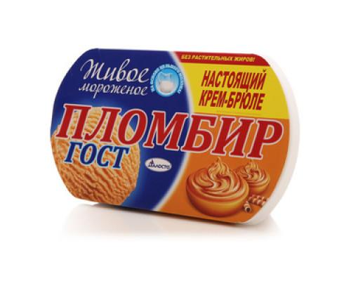 Мороженое пломбир  крем-брюле ТМ Талосто