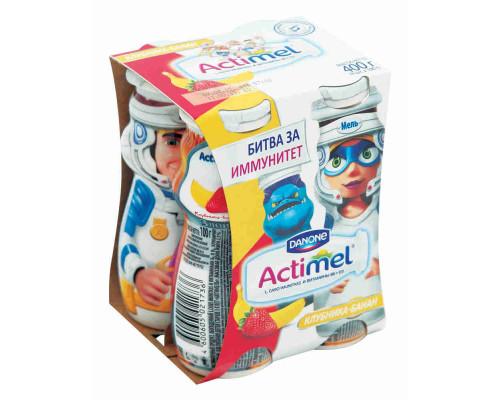 Продукт к/м Actimel Kids клубника/банан 2,5% 100г