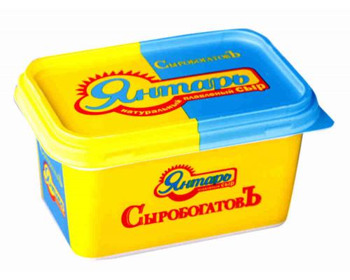 Сыр плавленый Янтарь Сыробогатов 60% 400г ванночка
