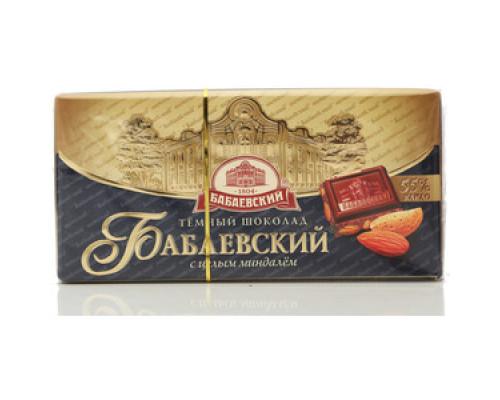 Шоколад ТМ Бабаевский, с целым миндалем 55% какао 100 г