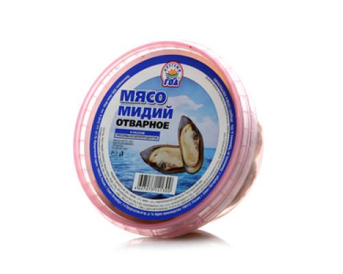 Мясо Мидий отварное в рассоле ТМ Круглый Год