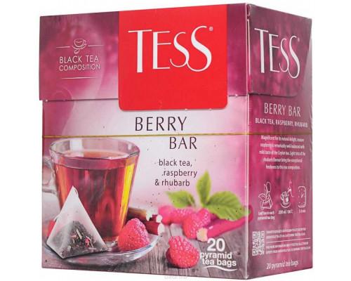 Чай ТМ Tess (Тесс) Berry Bar, ароматизированный, в пакетиках, 20 шт.