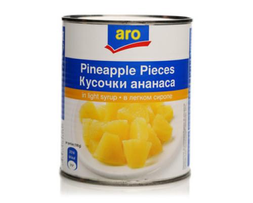 Кусочки ананаса в сиропе TM Aro (Аро)