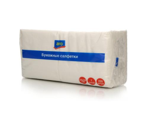 Салфетки бумажные 24х24см ТМ Aro (Аро), 250 шт