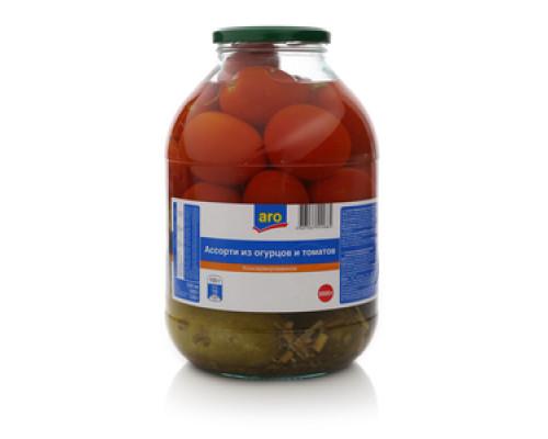 Ассорти из огурцов и томатов ТМ Aro (Аро)