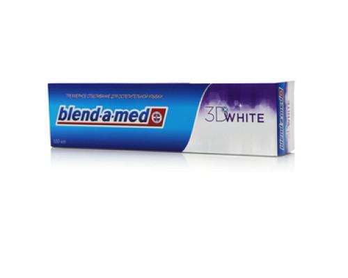 Зубная паста ТМ Blend-a-med 3D White (Бленд-а-мед 3Д Вайт) Трёхмерное отбеливание