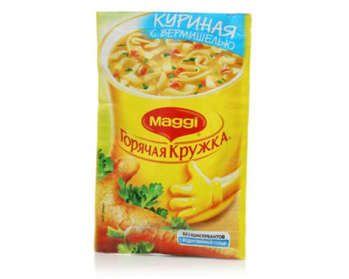 Суп Горячая кружка куриная с вермишелью ТМ Maggi (Магги)
