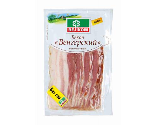 Бекон Велком Венгерский в/к в/у 500г нарезка