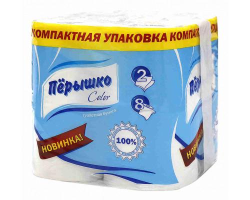 Туалетная бумага Перышко белая 2сл 8рул