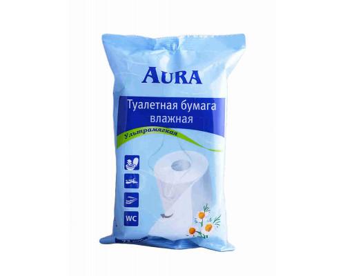 Туалетная бумага влажная Aura 72шт